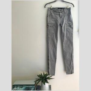 J Brand Gray Wash Zipper Jean